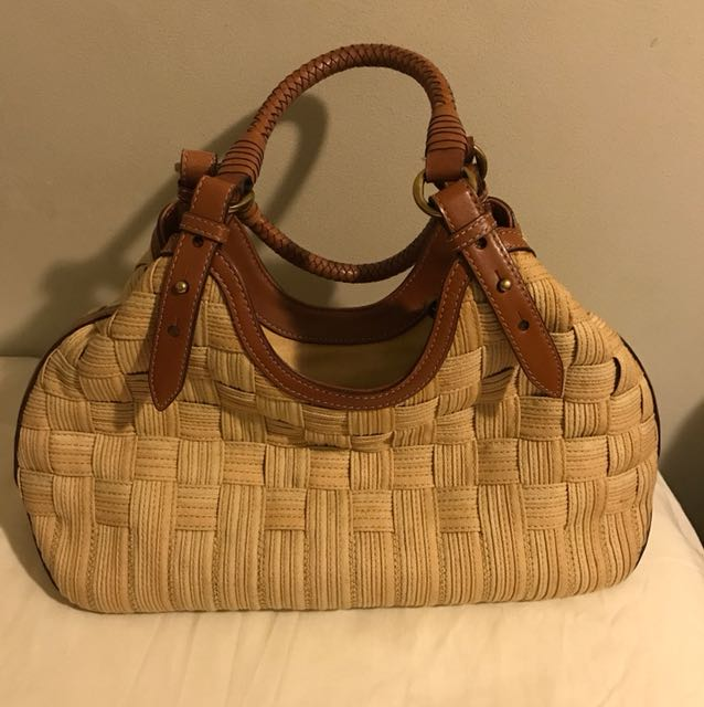 Cole Haan Woven Canvas Triangle Tote