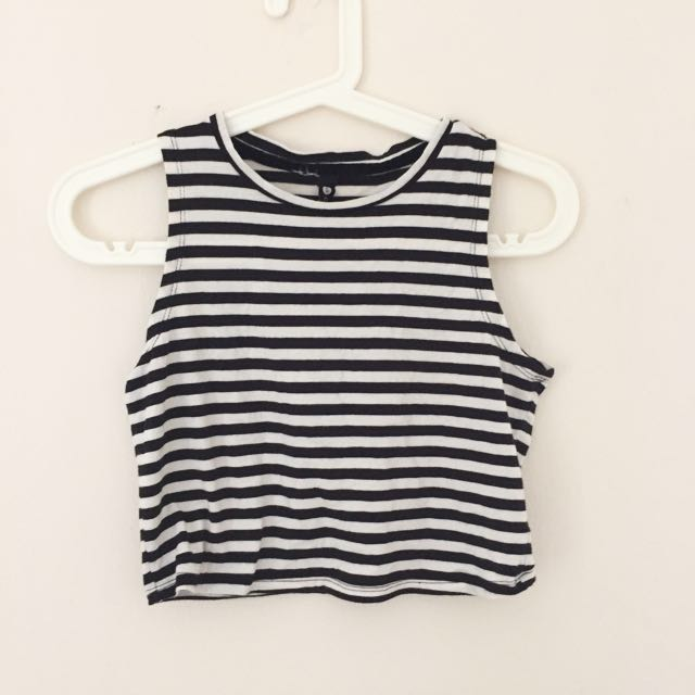 Cotton on Striped Crop Top