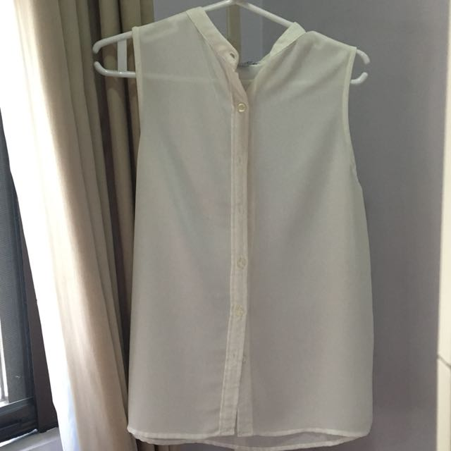 Cotton On White Sheer Top
