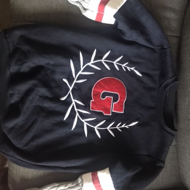 Cute varsity jumper