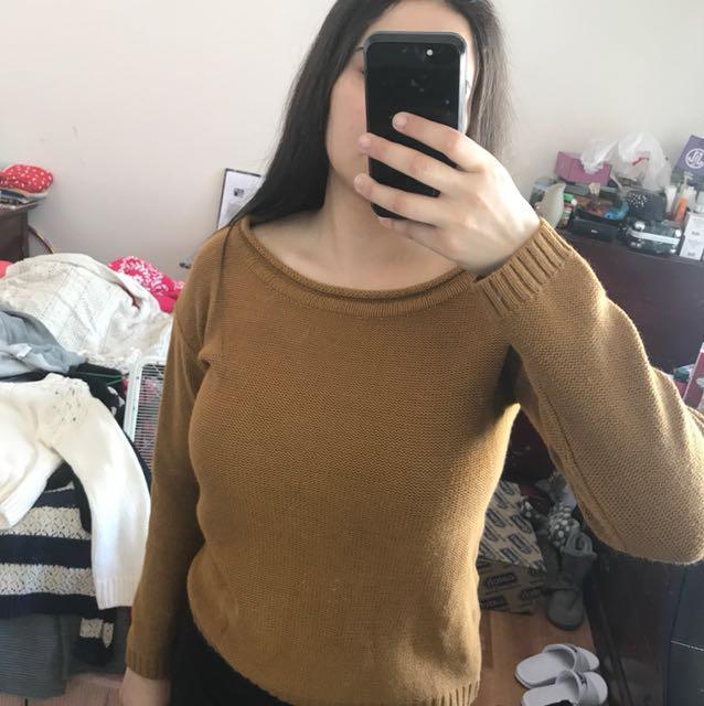 Dark orange/light brown Jumper