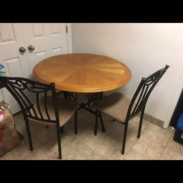 Dining set table and two chairs