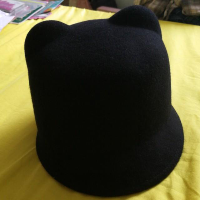 Dotti black cat ear hat