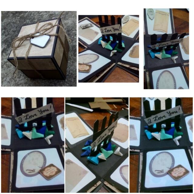 Explosion box / exploding box / gift box #20