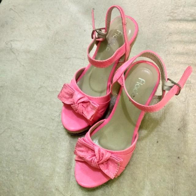 Fladeo Wedges Heels Pink