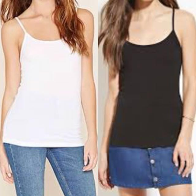 Forever 21 Camis and Basic Tank Tops (Overruns) minimum of 2 orders-Spandex/180 each