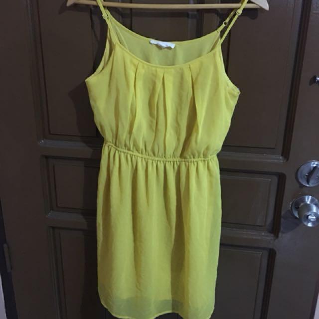 Forever 21 yellow chiffon dress