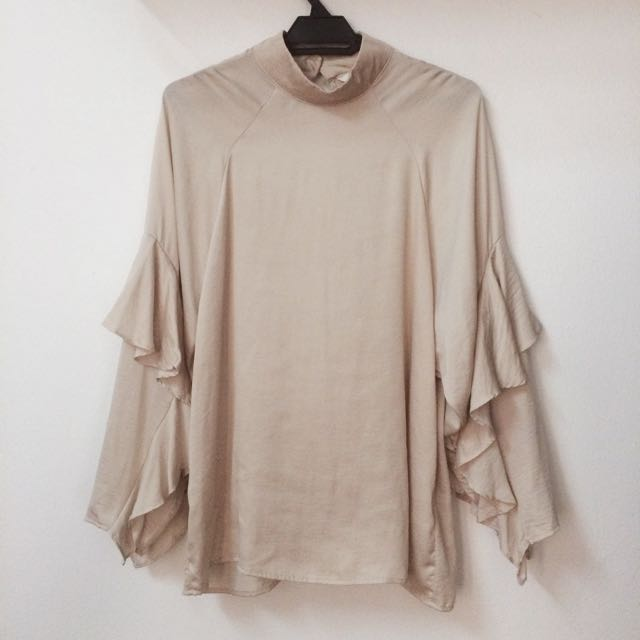 Frill Batwing Blouse