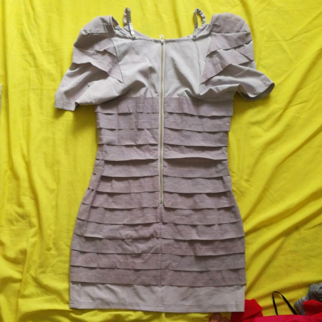 Grey town dress size S