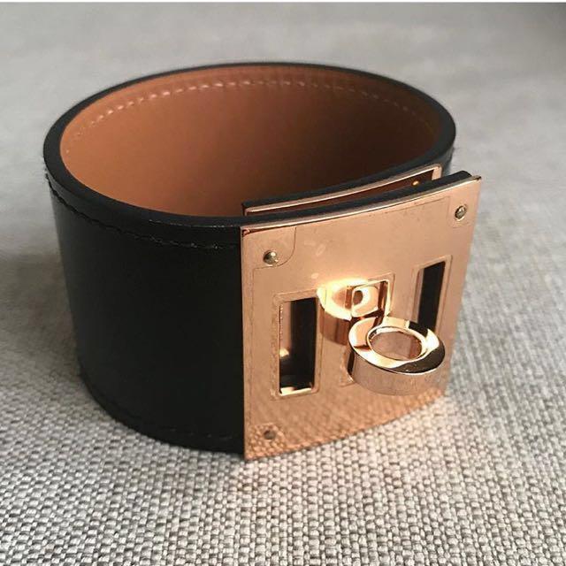 Hermes kelly dog black Rosegold hardware size XS