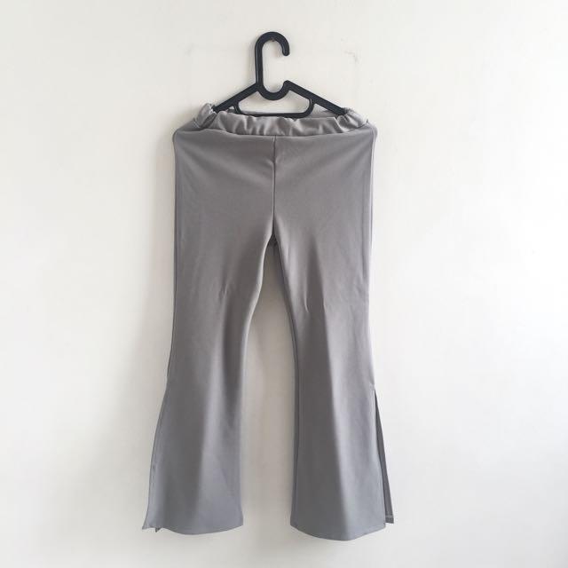 high waist slit pants
