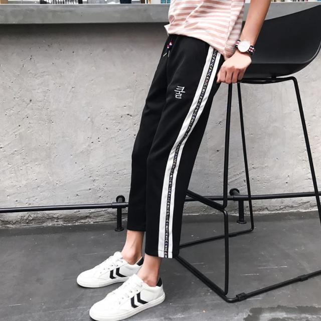 Hip-hop Swag Pants Men Stripes Double Stripe Adidas Dope Fashion Style Off-white