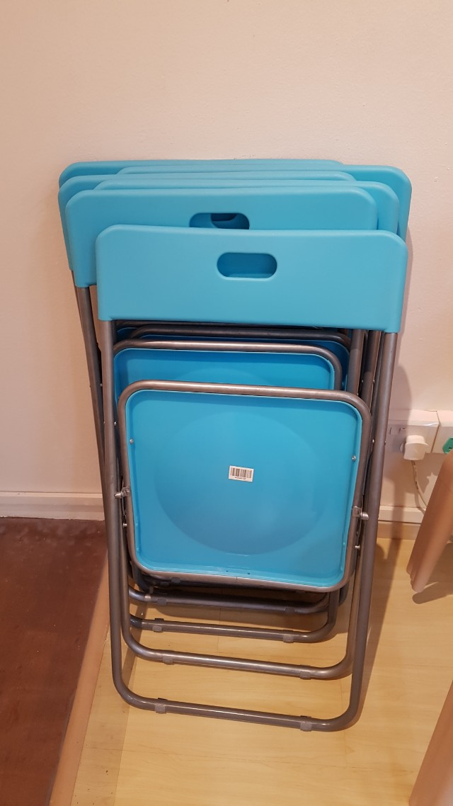 Pleasing Ikea Blue Nick Folding Chairs Furniture Tables Chairs On Squirreltailoven Fun Painted Chair Ideas Images Squirreltailovenorg
