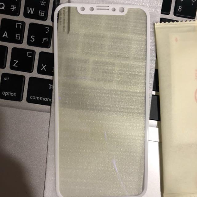 全新iPhonex3D軟邊全屏保護貼保護膜鋼化膜護眼藍光