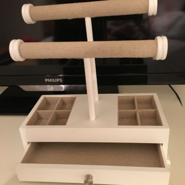 Jewellery stand with a drawer