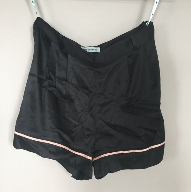 Kate Sylvester Silk Shorts