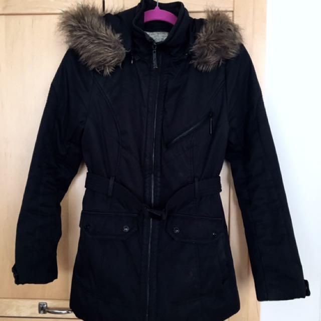 Kensie Black Winter Jacket (Small)