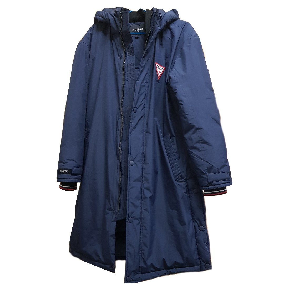 <L號> guess 風衣 大衣 外套 夾克 機能 保暖 二手