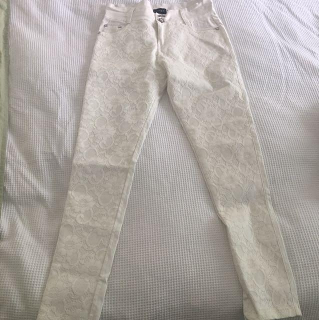 Lace Skinny Leg Pants