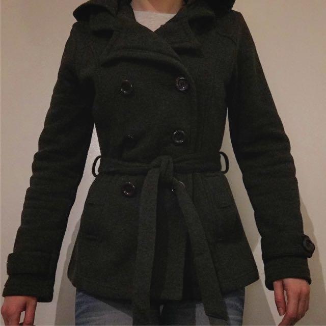 Ladies Coat With Hoodie