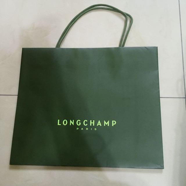 Longchamp 紙袋 提袋 名牌紙袋 精品提袋
