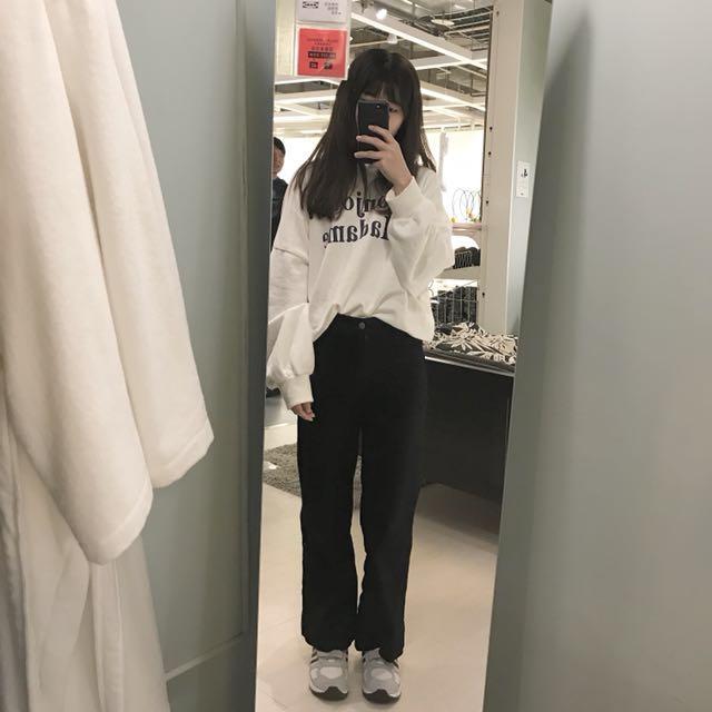 Lulus 高腰牛仔彈性長褲