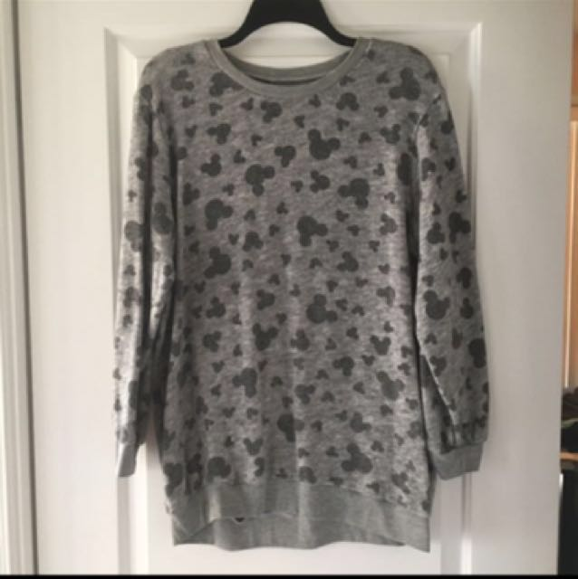 Mickey Mouse Patterned Sweater