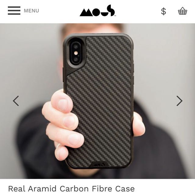 low priced a74ab dfda8 Mous iPhone X Carbon Fibre case with screen protector