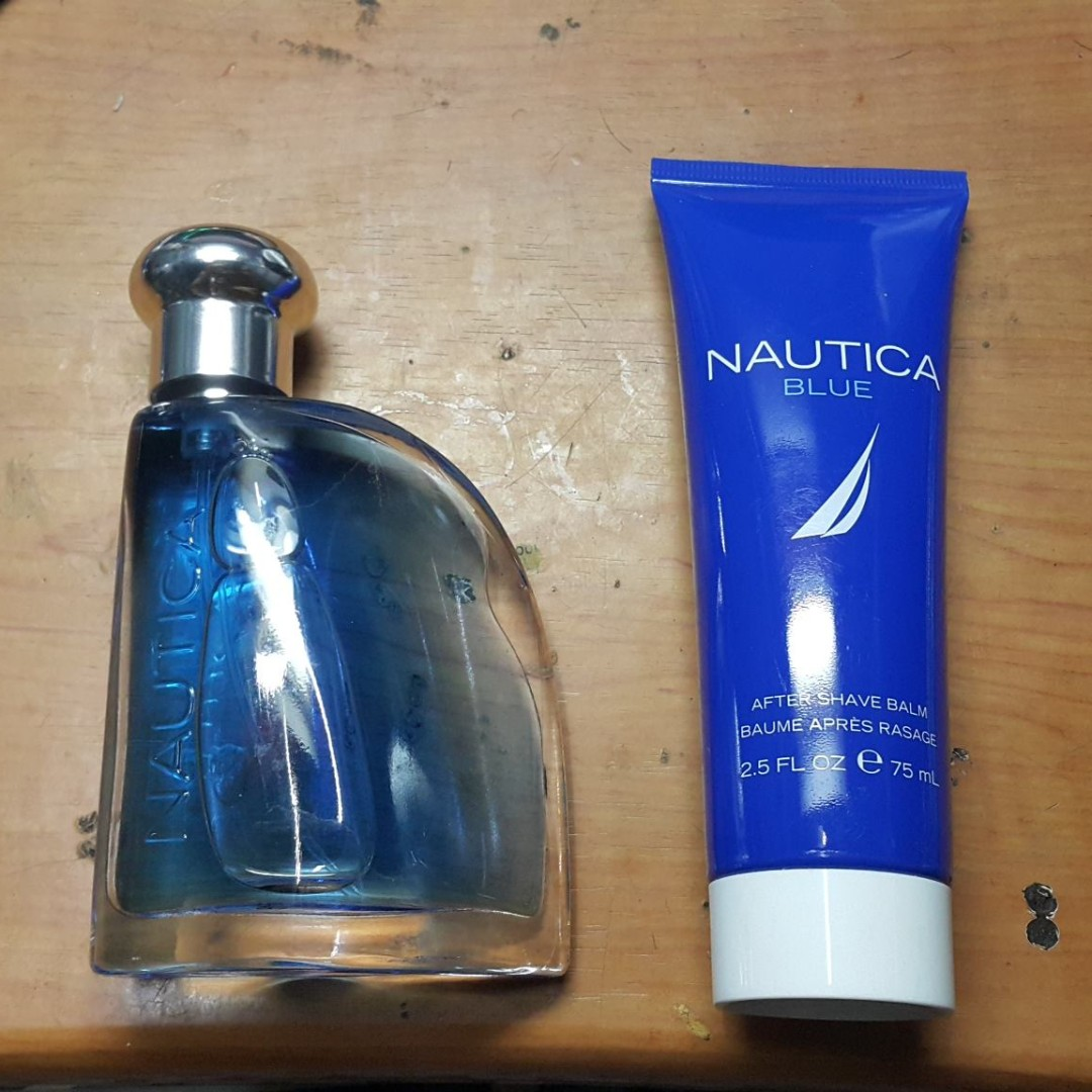 Nautica Blue 100ml edt with free aftershave cream