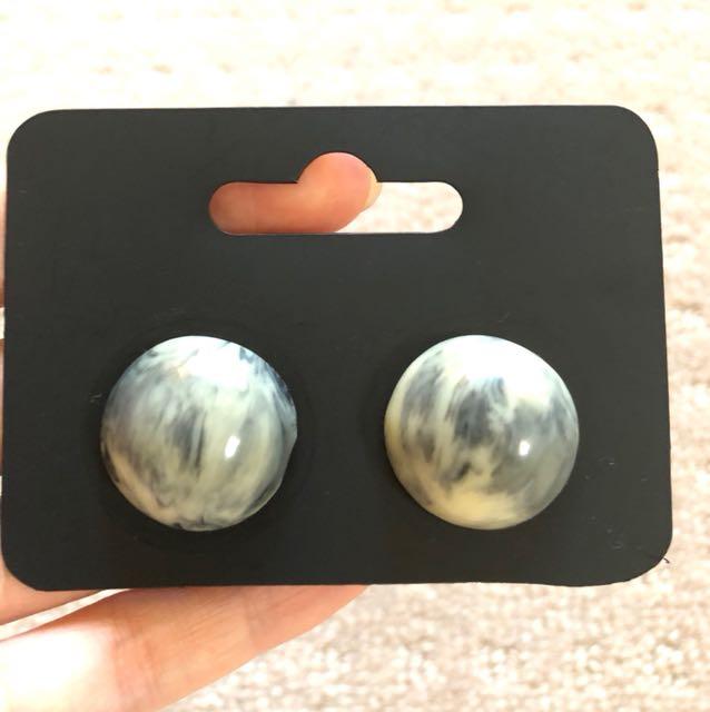 New ASOS Marble Stone Stud Earrings