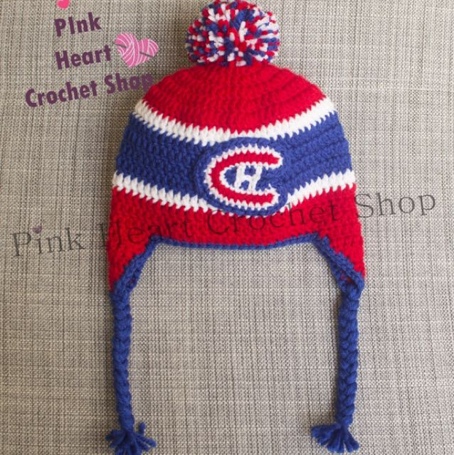 New handmade Montreal Canadian baby hat