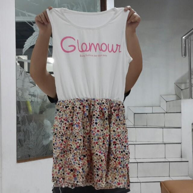OBRAL NEW - Mini Dress Glamour Polkadot / Dress Polkadot / Mini Dress / Mini Dress Polkadot / Mini Dress Glamour
