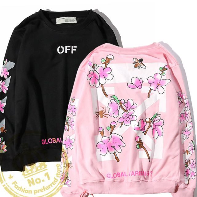 OFF WHITE Global Warming Floral Sweater