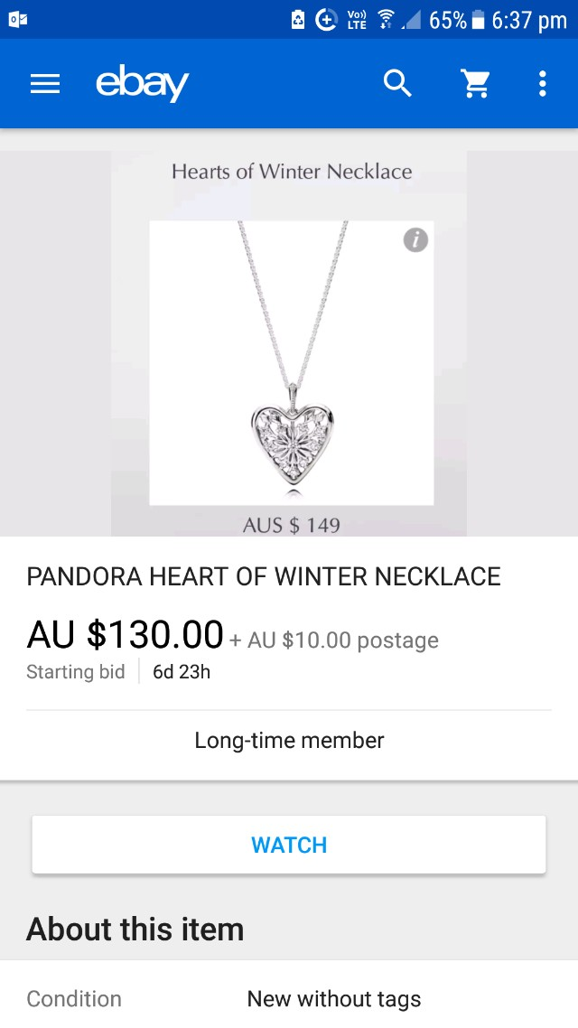 Pandora heart necklace