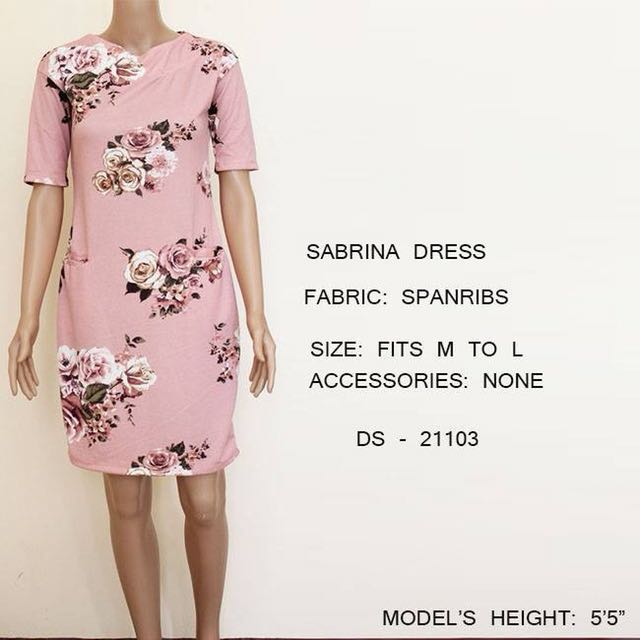 Pink Floral Dress Office / Party wear