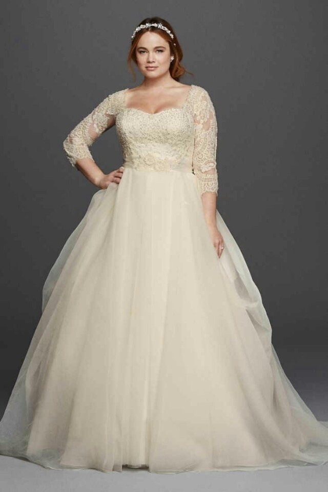 PLUS SIZE BRIDAL GOWN & ACCESORIES