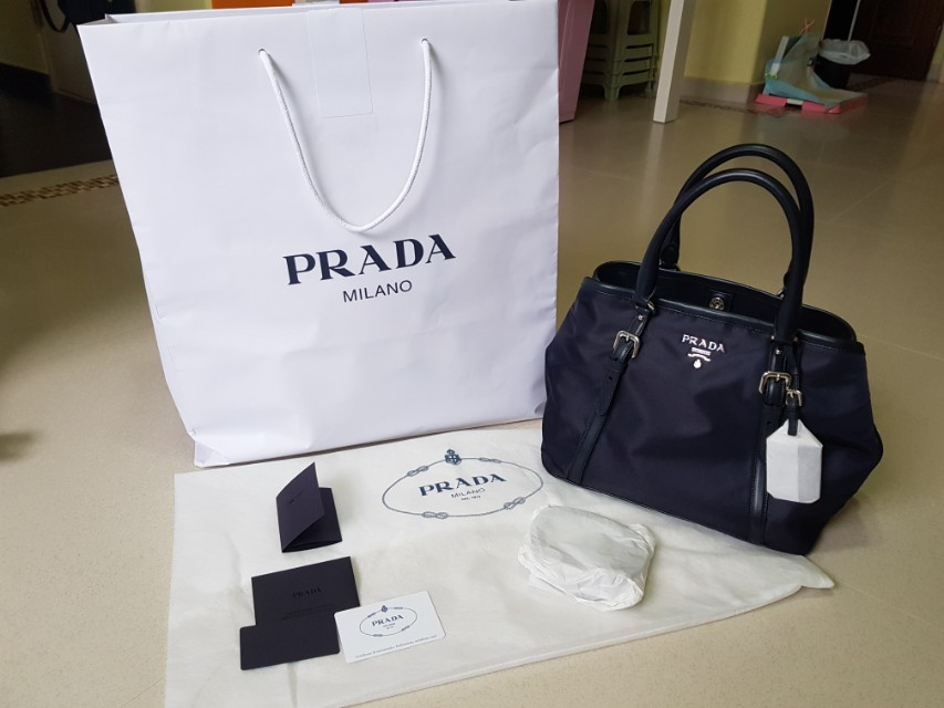 d623a6311c7d Authenticity of Prada 1BA841 Tessuto Nylon Convertible Satchel Bag Blue,  Luxury, Bags & Wallets on Carousell