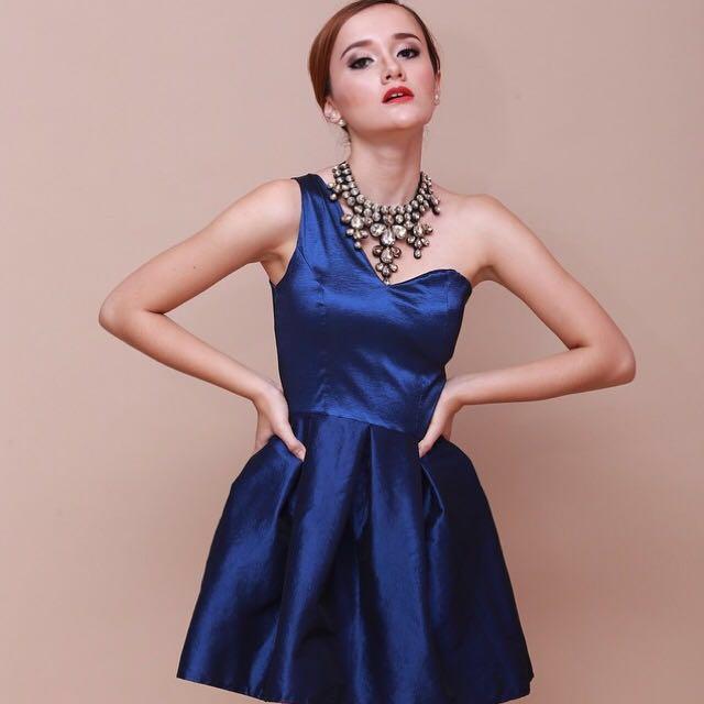 PREMIUM Blue Navy Metallic Dress (like new)