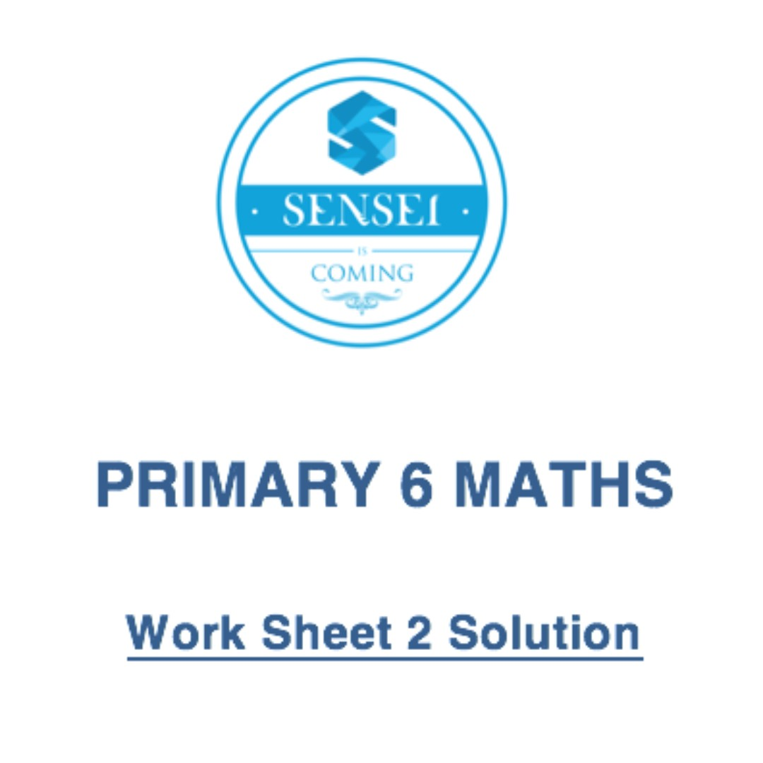 PRIMARY 6 MATH Work Sheet Solution, Books & Stationery, Textbooks on ...