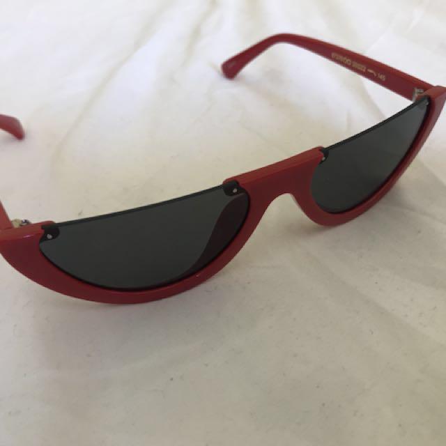 Red half Frame Cat Eye Sunglasses *BRAND NEW*