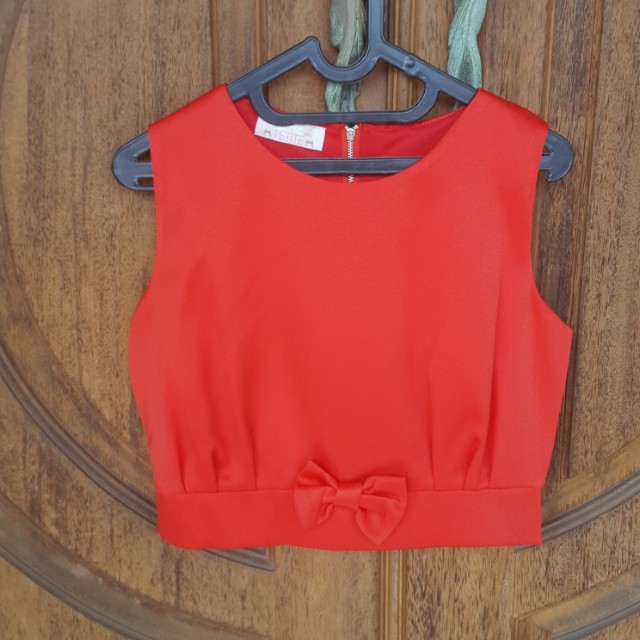 Red Little Rebbon Top