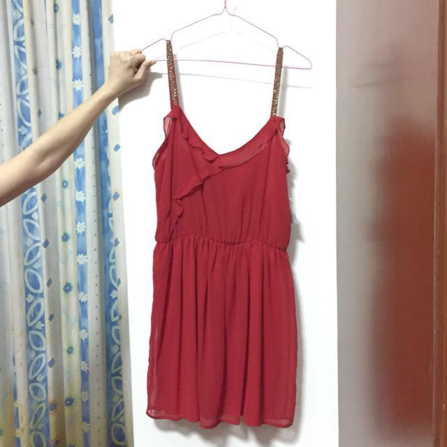 Red ZARA dress