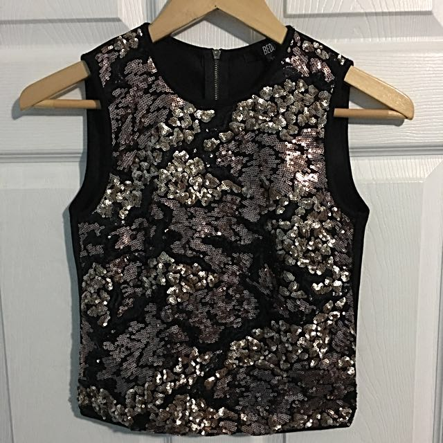 *Reduced* Bedo - Sequins Crop Top XS