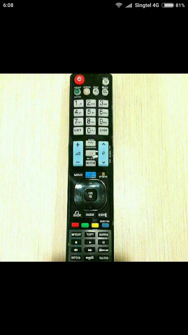 Remote Control for all LG tv.