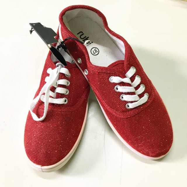 Rubi Red Plimsole / Rubber Shoes
