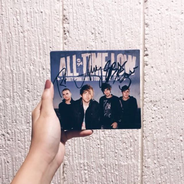 RUSH!!! All Time Low Dirty Work Album (signed)