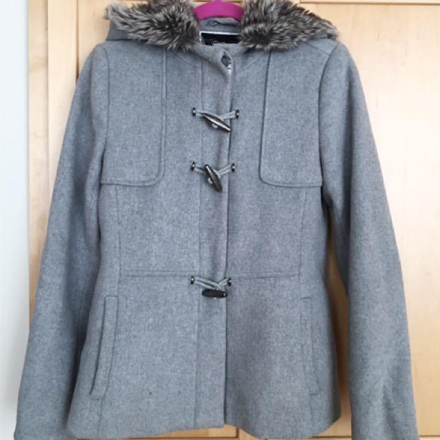RW&Co Gray Wool Coat (Small)