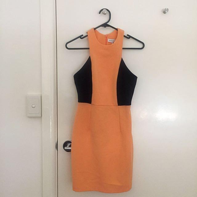 Shona Joy Size 6 Colour Block Dress