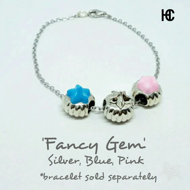 Silver Charms fancy gem fits Pandora