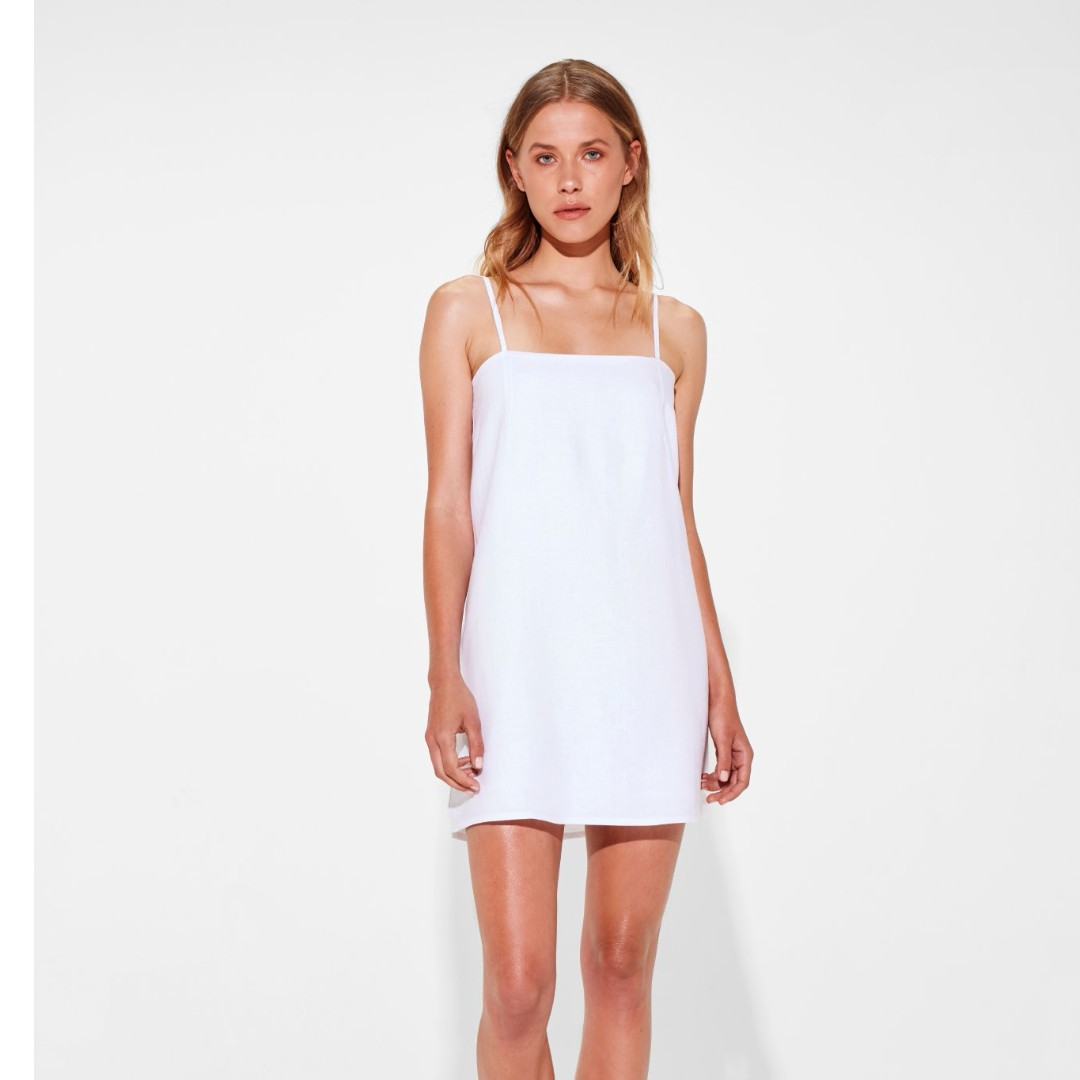 Sir the label cara mini dress white small/8/1 festival realisation par zimmermann rat & and boa maurie eve bec bridge manning cartell